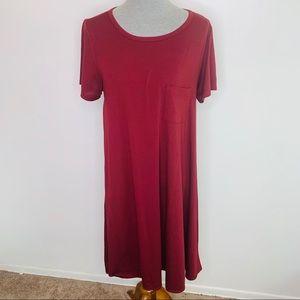 ⭐️3/$25⭐️ Lularoe Burgundy Carly high low dress